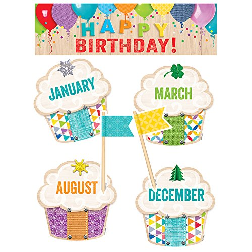 Creative Teaching Press Upcycle Style Happy Birthday! Mini Bulletin Board (0599)