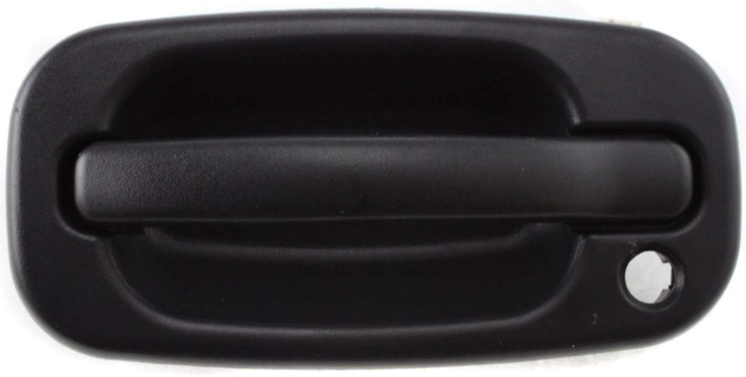 I-Match Auto Parts Front Left Driver Side Door Handle Replacement For 99-07 Escalade Avalanche Silverado Suburban GM1310129 15034985 Black Textured Outer With Keyhole