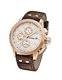 TW Steel ' CEO Adesso' Quartz Stainless Steel Casual Watch, Color:Brown (Model: CE7013)
