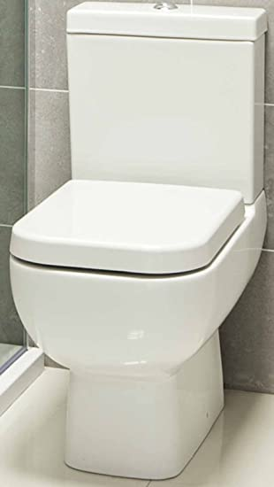 square toilet seat uk. 600 Compact Bathroom Cloakroom Short Projection Close Coupled Space Saver Square  Toilet Pan WC Soft