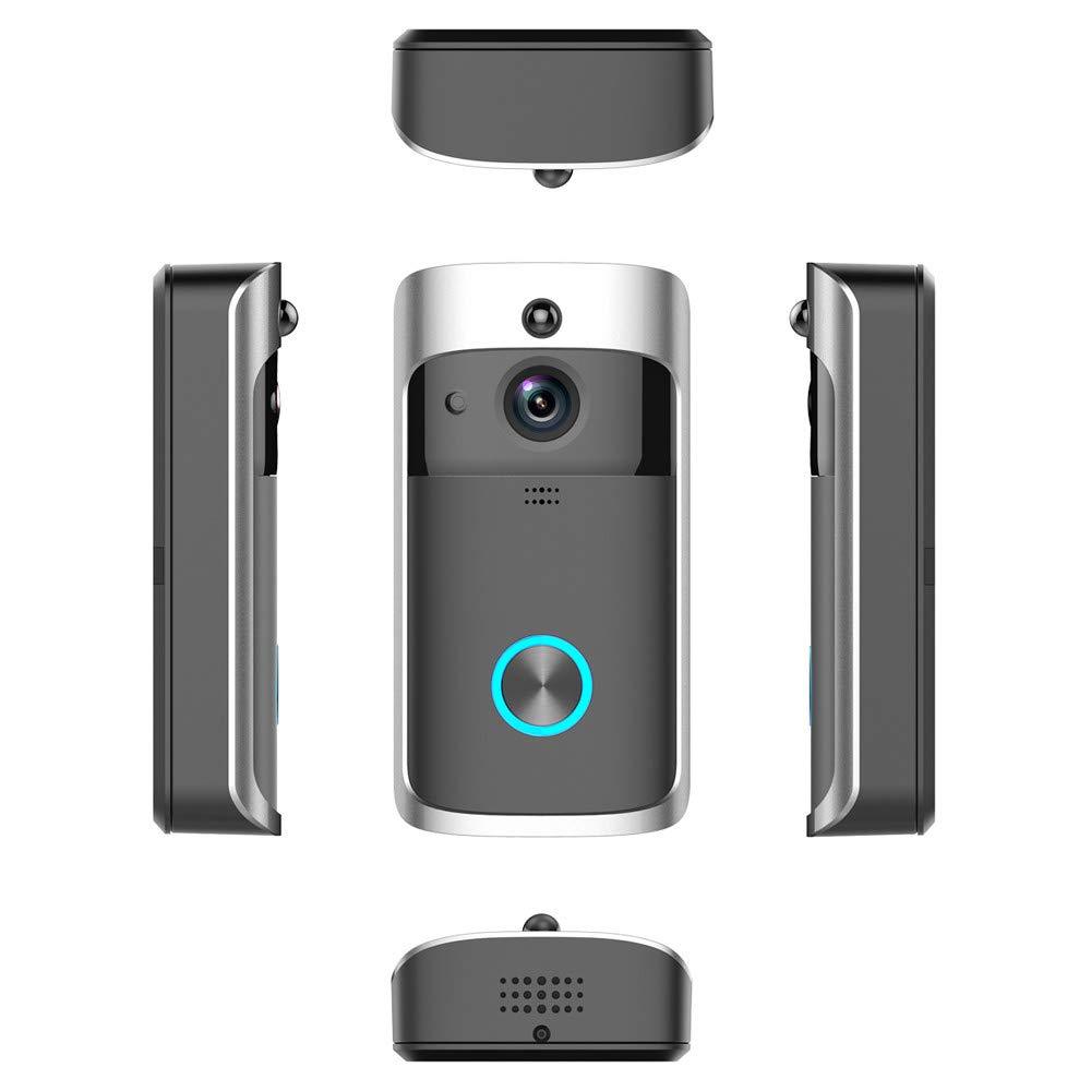 Aobiny ビデオドアベル ワイヤレス ホームドアベル 1080Pカメラ ナイトビジョン iOSAndroidスマートフォン対応 B07P9CXY9J  A