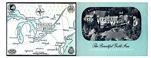 The Beautiful Guild Inn Brochure Overlooking Lake Ontario Canada 1950's Maps