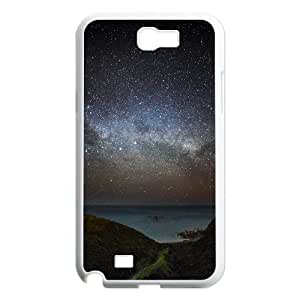 Dustin Starry Sky Samsung Galaxy Note 2 Case Milky Way Wellington Protective for Girls, Samsung Galaxy Note 2 Case Girl, {White}