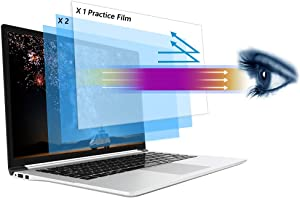 epolestar [2+1] Pack Blue Light Filter With Practice Film for Laptop 14 inch 16:9 Widescreen Computer Monitor UV Blocking Screen Protector Reduce Eyestrain for Dell/HP/Asus/Acer/blue light filter laptop