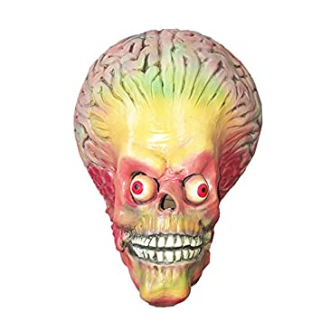 Mars Attacks Alien Mask Brain Alien Brain - Perfecto para Carnaval y Halloween - Disfraz de