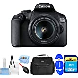 Canon EOS 1500D/Rebel T7 DSLR Camera with EF-S 18-55mm f/3.5-5.6 IS II Lens [International Version] (Starter Bundle)