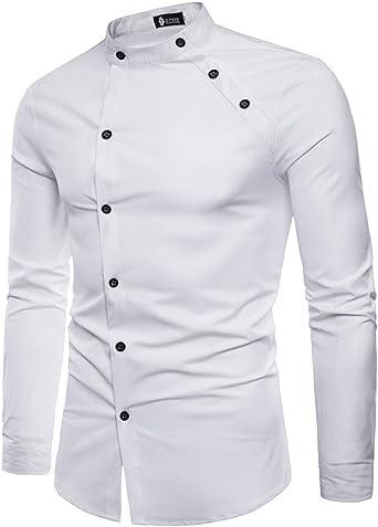 Kasen Mao Shirt Camisa para Hombre: Amazon.es: Ropa y accesorios