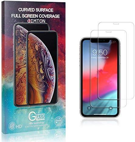 GIMTON Displayschutzfolie für iPhone XR, 9H Härte Anti Fingerprint Displayschutz, Ultra Dünn Schutzfilm aus Gehärtetem Glas für iPhone XR, 2 Stück