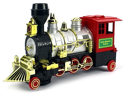 Rocky Mountain Battery Operated Bump And Go Toy Train W  Real Train Horn  Working Headlight