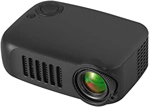 MERLINAE Kids Projector,Mini Pocket Projector,Portable Video Projector Multimedia Home Theater Movie Projector Compatible with TV Stick,Surport 1080P HDMI,USB,AV,Laptop for Children Gift Black