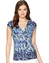 NIC+ZOE Womens Seaside Tile Tank Top