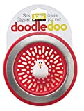 Red Kitchen Decor Harold Import Company Joie Doodle Doo Kitchen Sink Strainer Basket, Rooster, 4.5