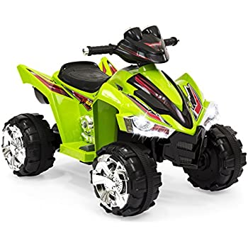 Best Choice Products Kids Ride On ATV Quad 4 Wheeler 12V Battery Electric Power Led Lights (Green)