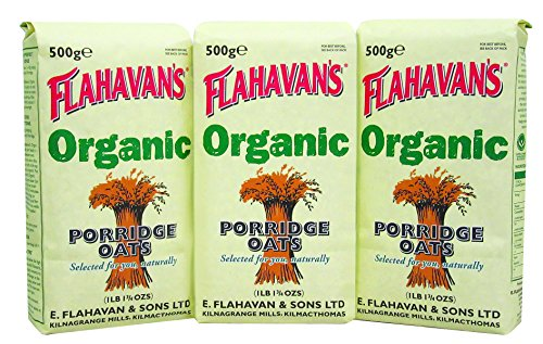 (FLAHAVAN'S Organic Porridge Oats, 17 Ounce (Pack of 3))