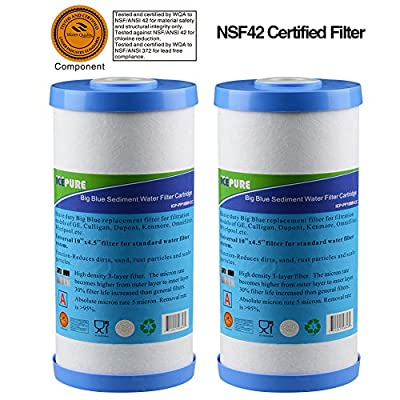 ICP-PP10BB-CC-2 PACK whole house heavy duty Sediment +Carbon Combinated Water Filter 10""