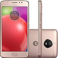 Smartphone Motorola Moto E4 Dual Chip Android 7.1.1 Nougat Tela 5` Quad-Core 1.3GHz 16GB 4G Câmera 8MP - gold Rosé