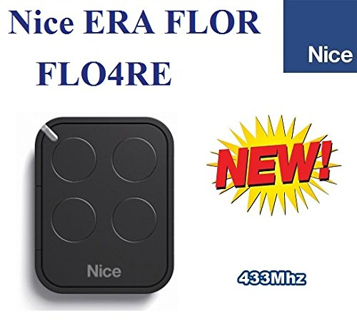 - NICE FLO4RE 4-channel rolling code remote control transmitter, 433.92Mhz rolling code