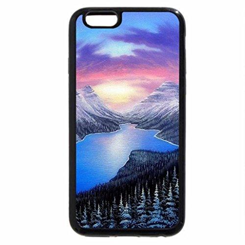 iPhone 6S / iPhone 6 Case (Black) Blue Lake Winter