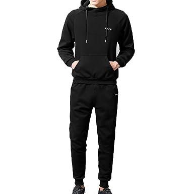 Men Sportwear Mens Warm Autumn Winter Patchwork Sweatshirt ...