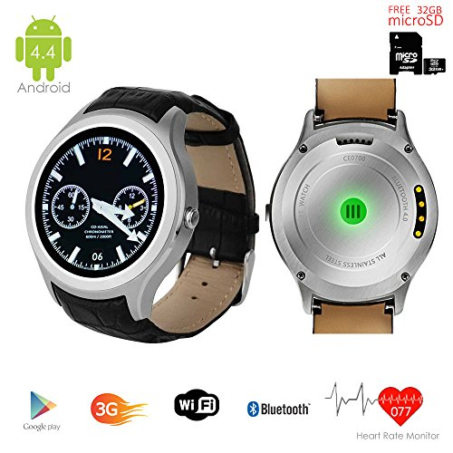 Indigi S6 Smart Watch Phone Android 4.4 Kit Kat GSM 3G+WiFi GPS Google Play...
