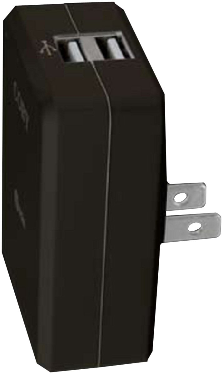 Coby CA81BLK Dual USB Power Adapter/Charger for MP3 Players (Black)