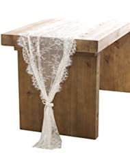 Nice Lingu0027s Moment 30x120 Inch White Classy Lace Table Runner/Overlay, Fall  Thanksgiving Christmas Decor Rustic Chic Wedding Reception Table Runner, ...
