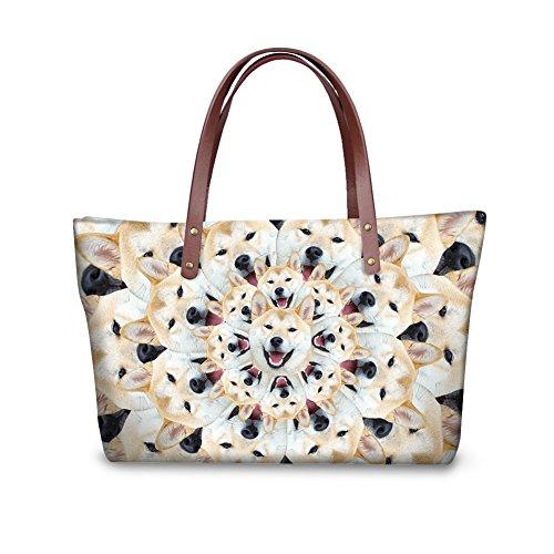 Handbags Tote Stylish Dfgcc2307al FancyPrint Women Bages Casual 5XxRq