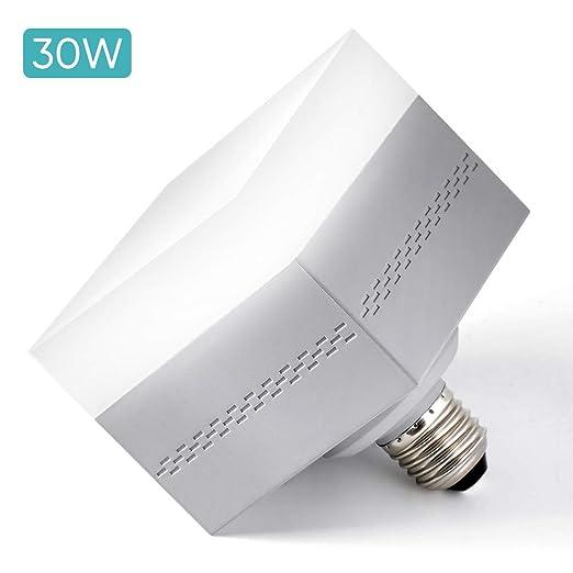 Haofy Bombillas LED, 30W Bombillas de Luz Cuadradas(Equivalente de 150 a 200W), Tornillo E26 / E27 en Lámpara de Luz 3500LM, 6500k para Garaje, Techo, ...