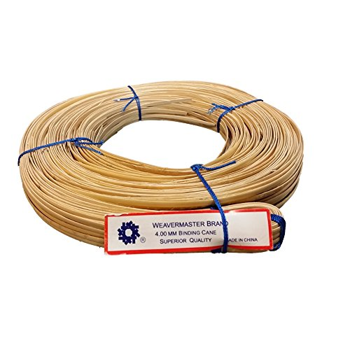 New 500' Hank of Binding Cane Binder 4 Sizes to Choose From, 4mm 5mm 6mm or 8-10mm for Baskets, Seat Weaving and Wrapping Wicker Furniture (4mm) (Wicker Basket Weaving)