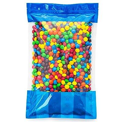 Bulk M&M's Plain Milk Chocolate in a Bomber® Bag - 5 lbs - Fresh, Tasty Treats – Resealable Bag by Fast Fresh Nuts