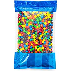 Bulk M&M's Plain Milk Chocolate in a Bomber® Bag - 5 lbs - Fresh, Tasty Treats – Resealable Bag