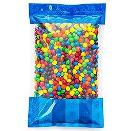 Bulk M&M\'s Plain Milk Chocolate in a Bomber® Bag - 5 lbs - Fresh, Tasty Treats – Resealable Bag
