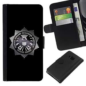 All Phone Most Case / Oferta Especial Cáscara Funda de cuero Monedero Cubierta de proteccion Caso / Wallet Case for HTC One M9 // Strategic Homeland Intervention Enforcement