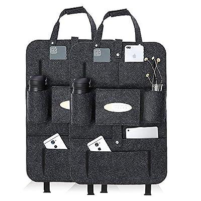 Auto Rückenlehnenschutz, 2 Stück Wasserdicht Auto Rücksitz Organizer für Kinder (Felt)