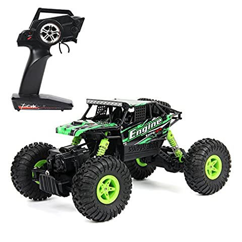 MiGoo S600 2.4Ghz RC Rock Crawler 4 WD Monster Truck Off-Road Vehicle Toy with Rechargeable Batteries (Green)