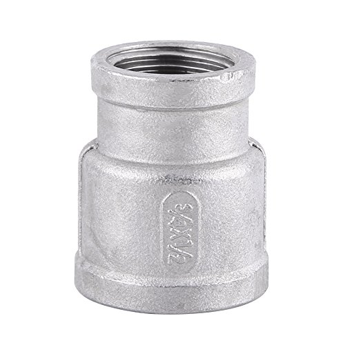 1pc Stainless Steel SS304 Female Threaded Reducer Pipe Fitting BSP ()