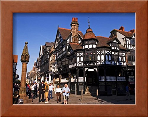 (OKSLO The Rows Along Eastgate, Chester, United Kingdom Framed Photographic Print Wall )
