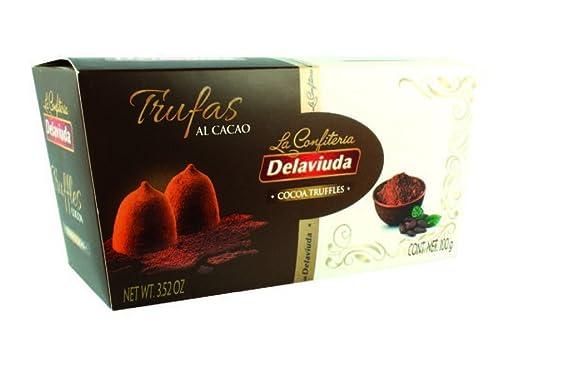 Confiteria Delaviuda Trufas Cacao/Cacao Tartufini - 2 x 100 Gramos
