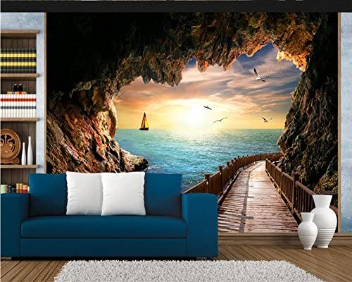 Xli You 3d Wallpaper Cave Sea View Beautiful Sunset