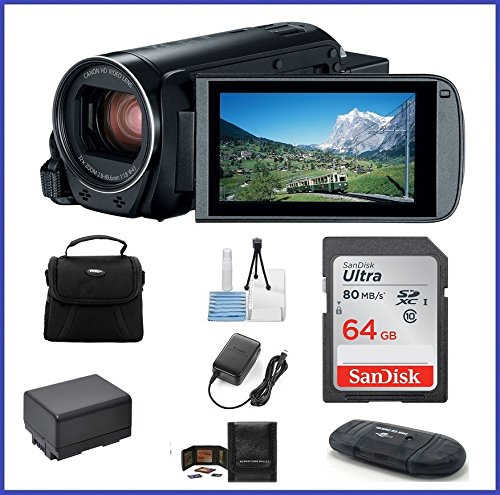 Canon VIXIA HF R800 Full HD Camcorder Bundle, includes: 64GB