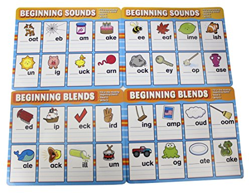 Phonics Dry Erase Activity Pages - Teacher Language Arts Supplies - Spelling Writing Activity -