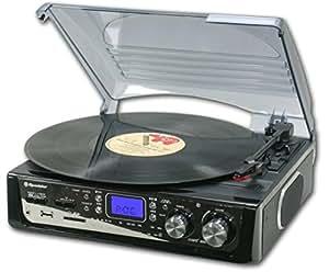 Roadstar TTR-8632UCEN - Tocadiscos (MP3/WMA) negro