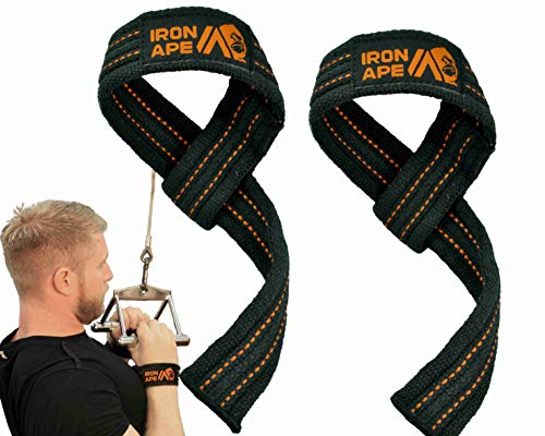 and Weightlifting Weight Lifting Shrugs IRON APE Figure 8 Straps for Deadlift 4 Sizes Heavy Duty Cotton