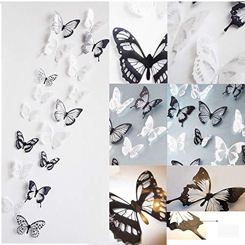 Realdo 18 Pieces 3D Butterfly Decor Wall Sticker Home Wall Decals ()