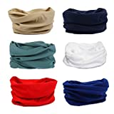 AMYAMY 16 in 1 Wide 6pcs Assorted Seamless Headbands for Men/Women Athletic Moisture Wicking Headwear for Sports Cycling Arm band Hiking Climbing,Bandana Headwrap Scarf Neck Gaiter Turban Mask
