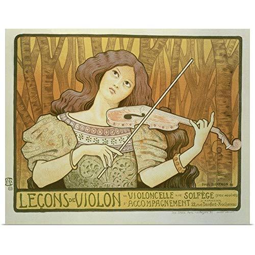 Poster Advertising Violin Lessons - GREATBIGCANVAS Poster Print Entitled Poster Advertising 'Violin Lessons', Rue Denfert-Rochereau, Paris, 1898 by Paul (1872-1909) Berthon 36