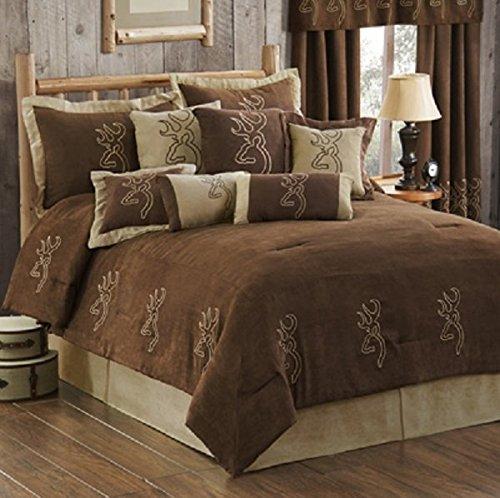 (Buckmark Suede 4 Pc FULL SIZE Comforter Set (Comforter, 2 Shams, 1 Bedskirt) SAVE BIG ON BUNDLING!)