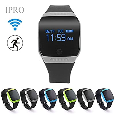iphone 6 Heart Rate Monitor Watch,IPRO Kids Pedometer Outdoor Sports Activity Fitness Tracker Health Sleep Monitor Smart Bracelet Wristband with Call Reminder & 24/12H Formats for Women/Men