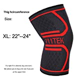 Compression Knee Sleeve, 711TEK Knee Support Brace for Joint Pain and Arthritis Relief, Improved Circulation Compression - Wear Anywhere(XL)