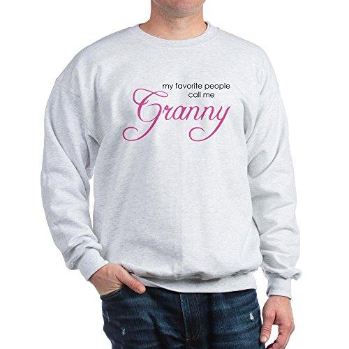 CafePress Favorite People Call Me Grann Classic Crew Neck Sweatshirt Ash Grey ()